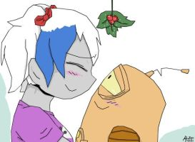 Under The Mistletoe :AT with RockStarMaren123: by CartoonistfromHell
