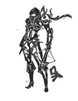 Doodle: Diablo 3 - Demon Hunter by dead-soul-1987
