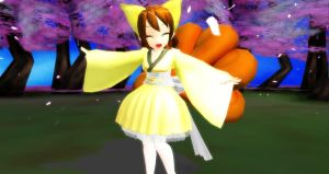 MMD Shiny Vulpix by Your-friend-Sushi