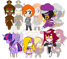 Assorted Chibis - Tough and Scary by Dragon-FangX
