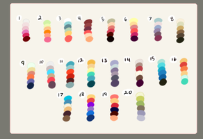 Color Palette Challenge! (closed) by SonicForceD