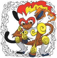 Ornate Pokemon: Infernape by StacheRabbit