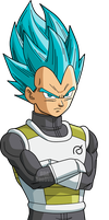 Vegeta Ssg Blue by SaoDVD