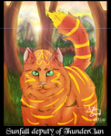 Sunfall Deputy of ThunderClan by lilaeyan