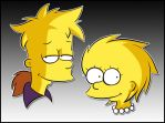 Teenager Bart, Lisa Simpson by Matsuri1128