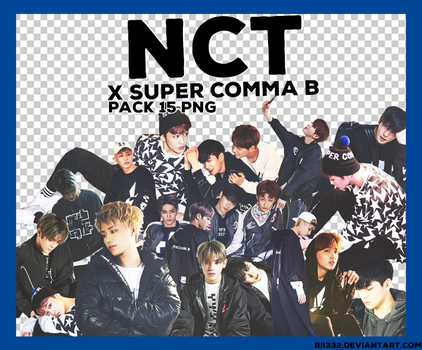 [PNG PACK] #001: NCT x SUPER COMMA B by Bii332