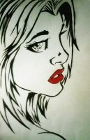 Girl Face Stencilled by Winfield87