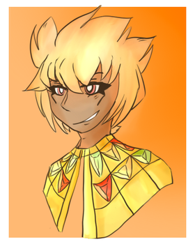 | Human Atem by Just-Nekuroo