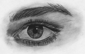 Charcoal Eye by theresebees
