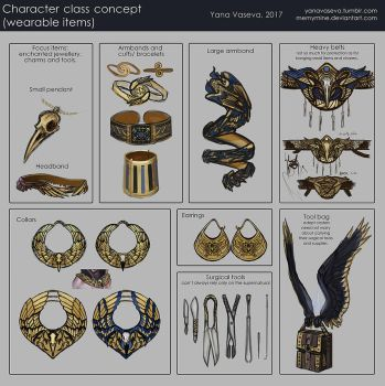 RPG class design (Items only) by MeMyMine