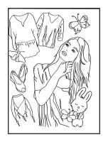 Em goes Shopping - Coloring Book Page by FractalBee