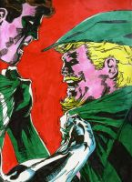 Green Lantern and Green Arrow by Giaus