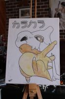 Cubone on canvas (for sale) by firenight617