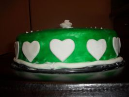 Green Fondant Cake - Side by RandomActofMuse2