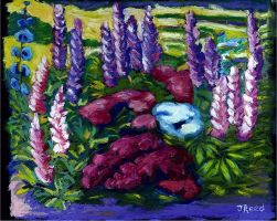 Flowers in Oil Pastel by Metatetron