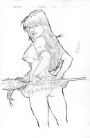 Ikki Tousen Pin-Up Commission by Mariah-Benes