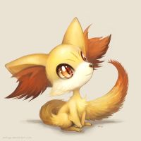 Small Fennekin by eldrige