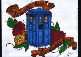 Doctor Who Tattoo by Cassandra-annastacia