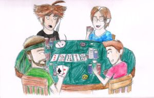 Poker Night with the Late Night Crew by iamthek3n