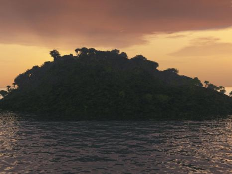 A Slightly Larger Island by TheColorCute
