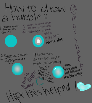 how to draw t bubble