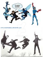 Blue Beatles Comparison by johntrumbull