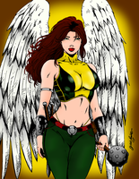 The Beautiful Sheira - Hawkgirl by portfan