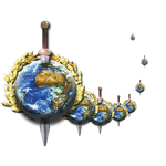 Steampunk Earth with Sword Icon by yereverluvinuncleber