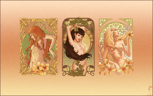Art Nouveau Wallpaper v4 by dannis2