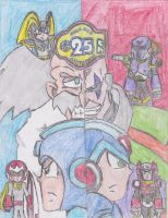 MegaMan 25th Anniversary by UltimateArmorSonic