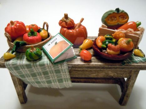 New pumpkins table by miniacquoline