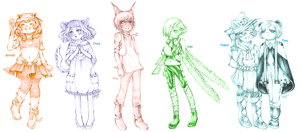 Animal Gijinka OCs 4 by BlueRoseArkelle