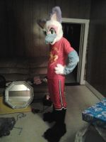 My first fursuit coming together by furryRaver21