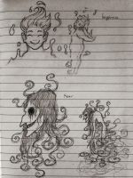 Sadness and Happiness (concept sketch) by metaphon
