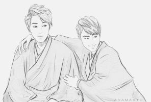 Kai and D.O - EXO-K by AdamaSto