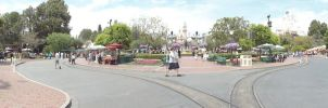 Disneyland Panoramic View by Anime-Ray