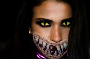 Mileena face by AnaLuSauceda