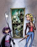 Hitgirl and Vampire Slayer by Phostex