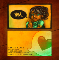 What She Said -- business card by cerena