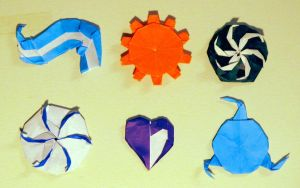 Origami Aspect Symbol Drafts by OrigamiPhoenix
