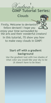 GIMP: Clouds Tutorial by Xadrea