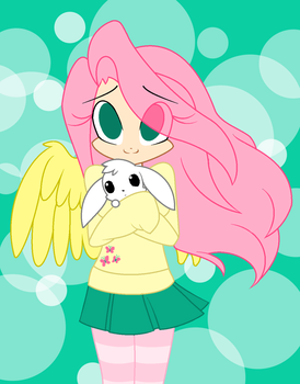 [MLP] - Human Fluttershy by NyeNyec2001