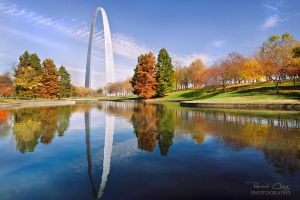 .:Autumn Gateway Arch St Louis:. by RHCheng