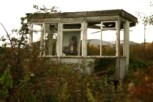 Abandoned Bus Stop5 by NickiStock