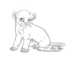 Lion Cub Lineart by Mauston-girl
