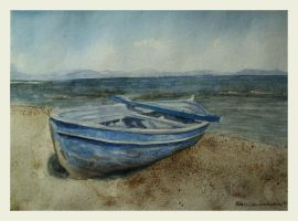 the little blue boat by czochanska