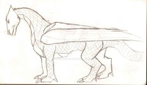 Dragon concept sketch by Rebelshade