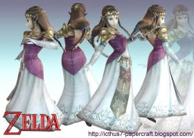 Zelda from Super Smash Bros. by enrique3