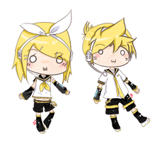 Rin and Len by SawaHaru