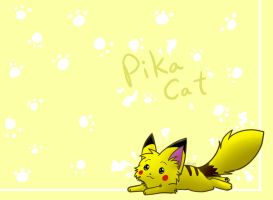 Pika-cat by Spottedfire-cat